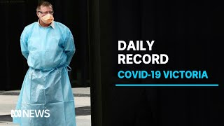 Victoria COVID-19 cases reach single-day record as Melbourne businesses prepare to close | ABC News