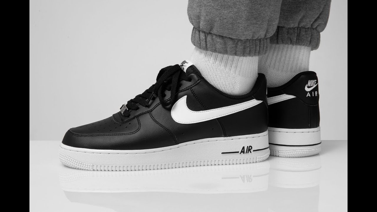 Nike Air Force 1 Black White 07 An20 Unboxing On Feet