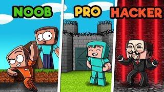 Minecraft - PRISON ESCAPE CHALLENGE! (NOOB vs. PRO vs. HACKER)