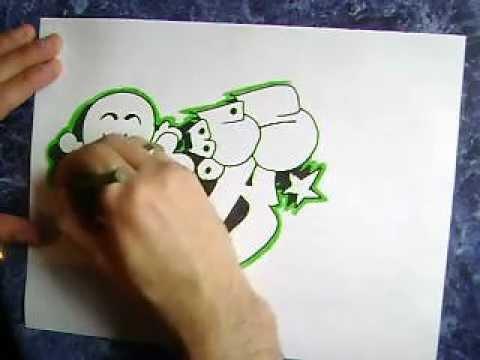 Como dibujar un graffiti calavera por besok  YouTube