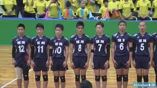 JOCバレー男子決勝【福岡 vs 長崎★1st】2018中学生全国大会Volleyball Boys Japan
