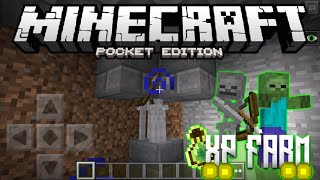 How To Make a SKELETON / ZOMBIE XP FARM in Minecraft PE - MCPE Tutorial (Pocket Edition)