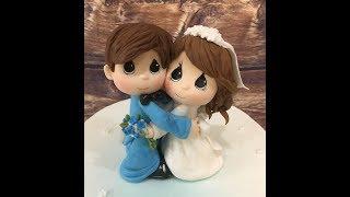 фигурка жениха и невесты из мастики /how to blind the figure of the bride and groom (master class