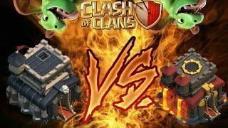 CONSEGUIR 100% EM UM CV10 USANDO BEBÊ DRAGÃO? - Clash of clans