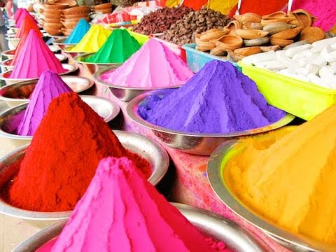 """Indian Festival of Colours Video"" ""Holi Phagwa"" ""Phagawa"" ""Phagua"" ""Colorful Elephants"" [ASMR]"