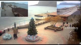Новый год в Коктебеле 2014 (New Year in Crimea)(Новый год в Коктебеле - втречают 2014 в Крыму, температура днем +3, в новогодную ночь +1. Новый год в Коктебеле..., 2013-12-31T14:32:53.000Z)