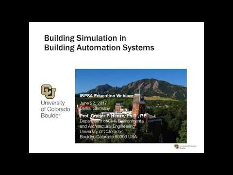 IBPSA Webinar Session-11: Building simulation in building au