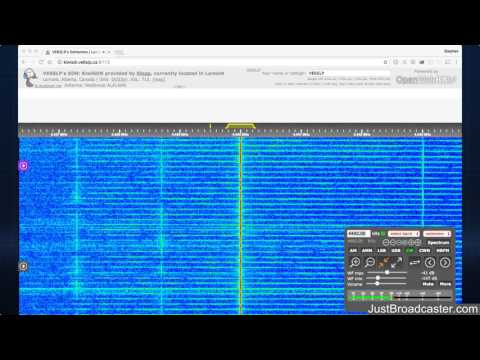 HAARP SDR Stream - Feb 20 2017 - Receiver near Edmonton, AB