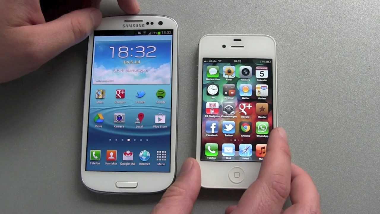 Samsung Galaxy S3 vs Apple iPhone 4S - Vergleich von außen ...