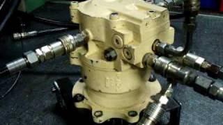 reparation moteur hydraulique, essais test hydraulic motor kubota kayaba