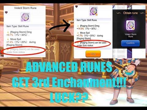 Advanced Runes/Attribute Synergy: LUCK? S-runes 3rd Enchantment Unlocked! Ragnarok Mobile SEA