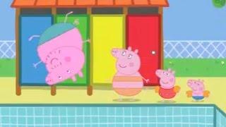 Peppa Pig. Daddy Pig's big splash // #Папа Свин прыгает в бассейн #Свинка Пеппа ставит баллы