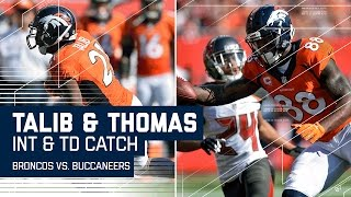 Aqib Talib's Early INT Sets Up Demaryius Thomas' TD Catch! | Broncos vs. Buccaneers | NFL