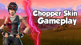 New Skin (Chopper skin)| 17 kill Gameplay| Fortnite BR-ThaaGlory