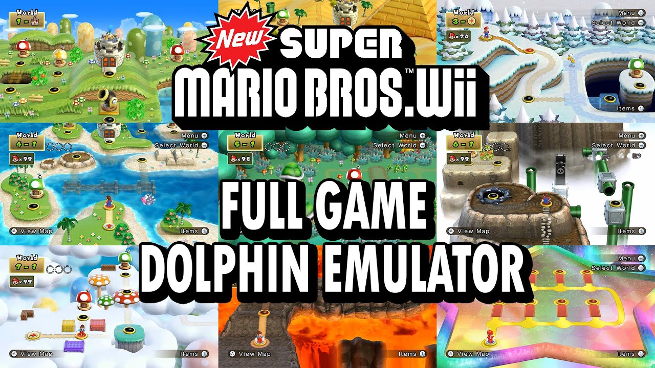 Dolphin 4 0 2 New Super Mario Bros Wii World 9 All Cuitan Dokter