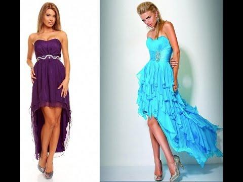 f2692388a84 Короткие вечерние платья со шлейфом - 2019   Short evening dress ...