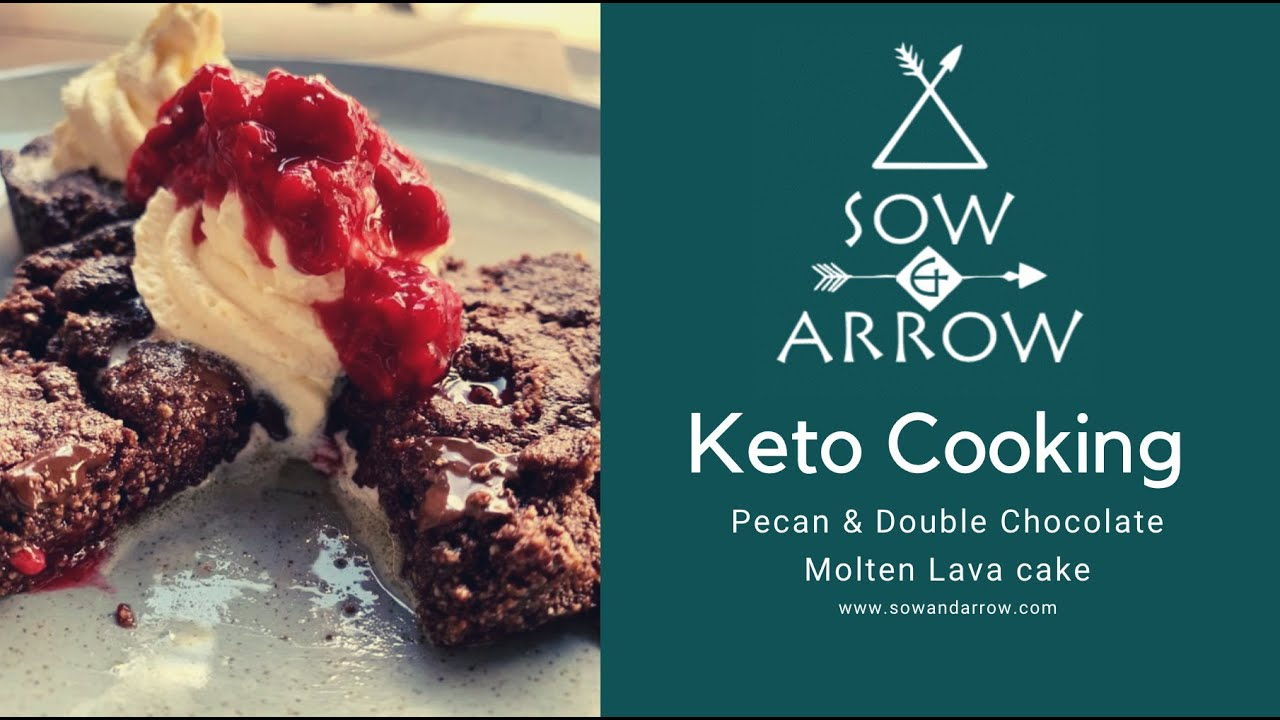 Keto Cookery: Pecan and Double Chocolate Molten Lava Cake