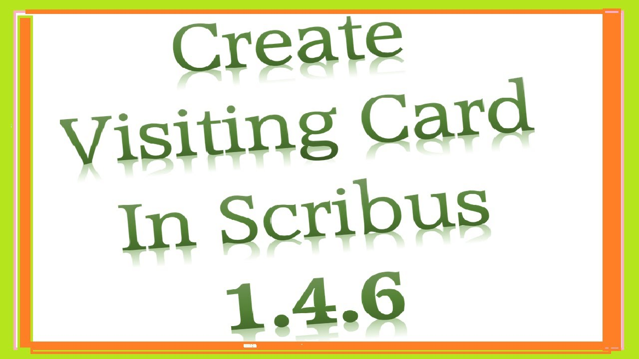 How to create visiting card in scribus 146 youtube how to create visiting card in scribus 146 reheart Image collections