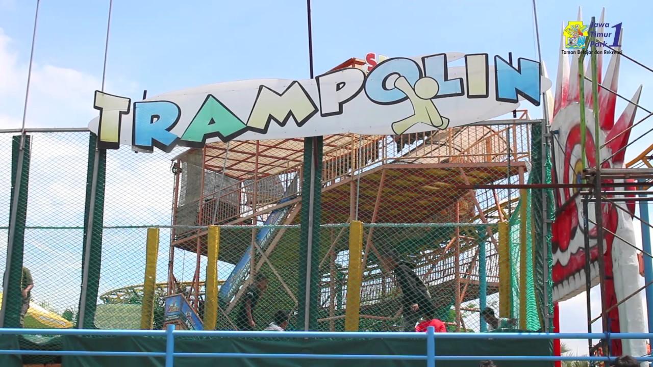 Wahana Trampolin Jatim Park 1 Youtube