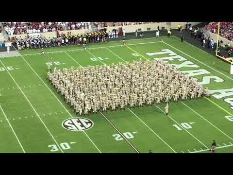 Fightin' Texas Aggie Band First Home Halftime Show 2017 Nicholls State Game