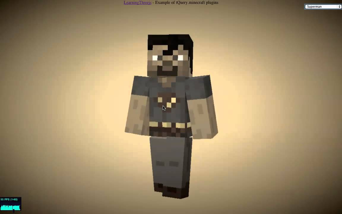 Minecraft Character in WebGL - Learning Three js