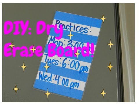 DIY: Small Dry Erase Board