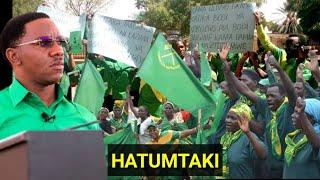 Wanachama waandamana tena Gafla,Wadai hawamtaki huyu aliyepitishwa na chama!!!