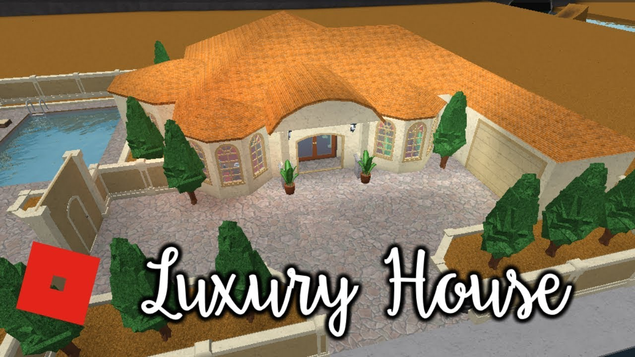 Welcome to bloxburg luxury house speed build youtube for Build a luxury home