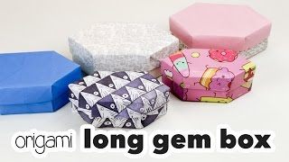 Origami Long Gem Box Tutorial ♦︎ DIY ♦︎