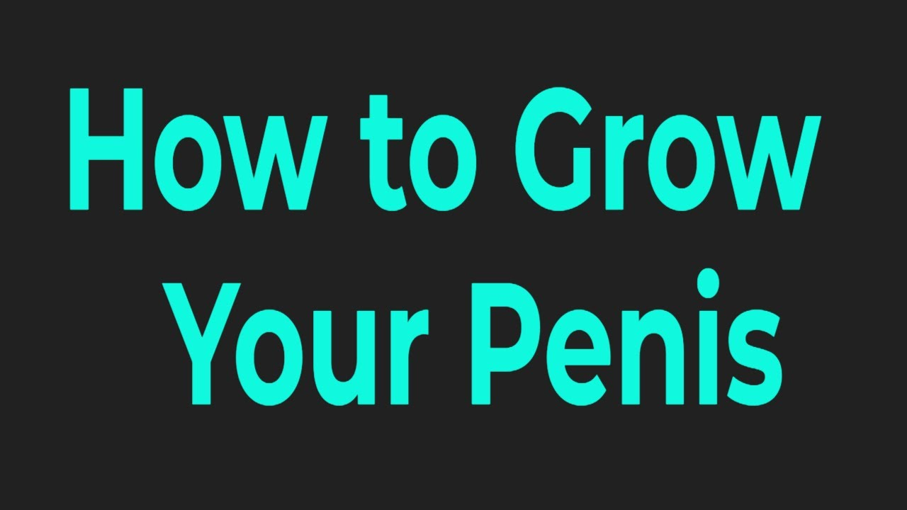 Exercises that make your dick bigger