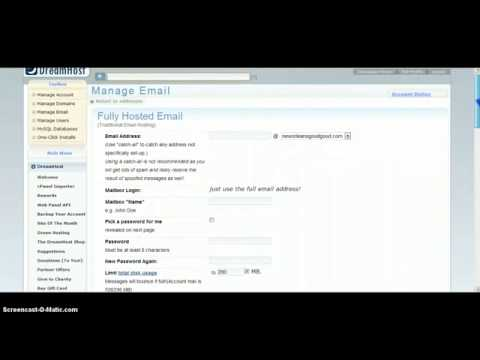 Setting up a forward only email address with Dreamhost [WITH PROMO COUPON]