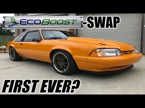 The first ever ECOBOOST swapped foxbody mustang! *WITH TURBO UPGRADES