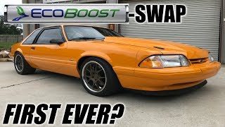 Download The first ever ECOBOOST swapped foxbody mustang! *WITH TURBO UPGRADES Mp3 and Videos