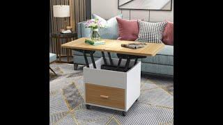 사이드 테이블 겸용 이동식 공간활용 트랜스포머 리프트업…
