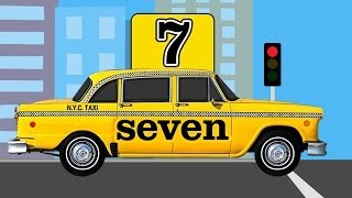 NYC Taxi Cabs Teaching Kids Numbers 1 to 10 - Learning Number Counting for Children