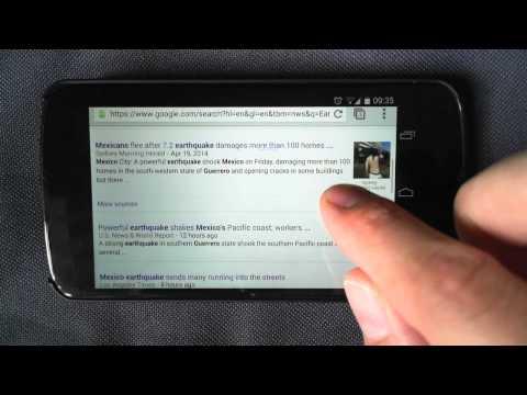 Geohazard app news access on smartphone
