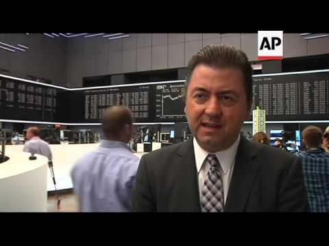 Dax closes down, trader comment, Societe General losses