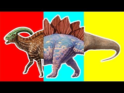 Wrong Heads Dinosaurs!   Ankylosaurus Parasaurolophus Stegosaurus T Rex Learning Dinosaurs For Kids.