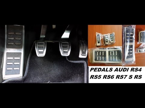 Sport steel pedals RS audi. assembly for AUDI A4 A5 A6 A7