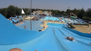 Blue Racing Water Slide at Acquatica Park