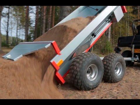 Ultratec ATV trailer with Hydraulic tipping & Polaris Ranger 570