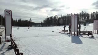 Pärnän kunkku -hiihtokisat 21.3.2015, Karla Könönen maaliin