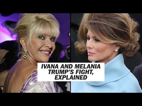 Ivana and Melania Trump