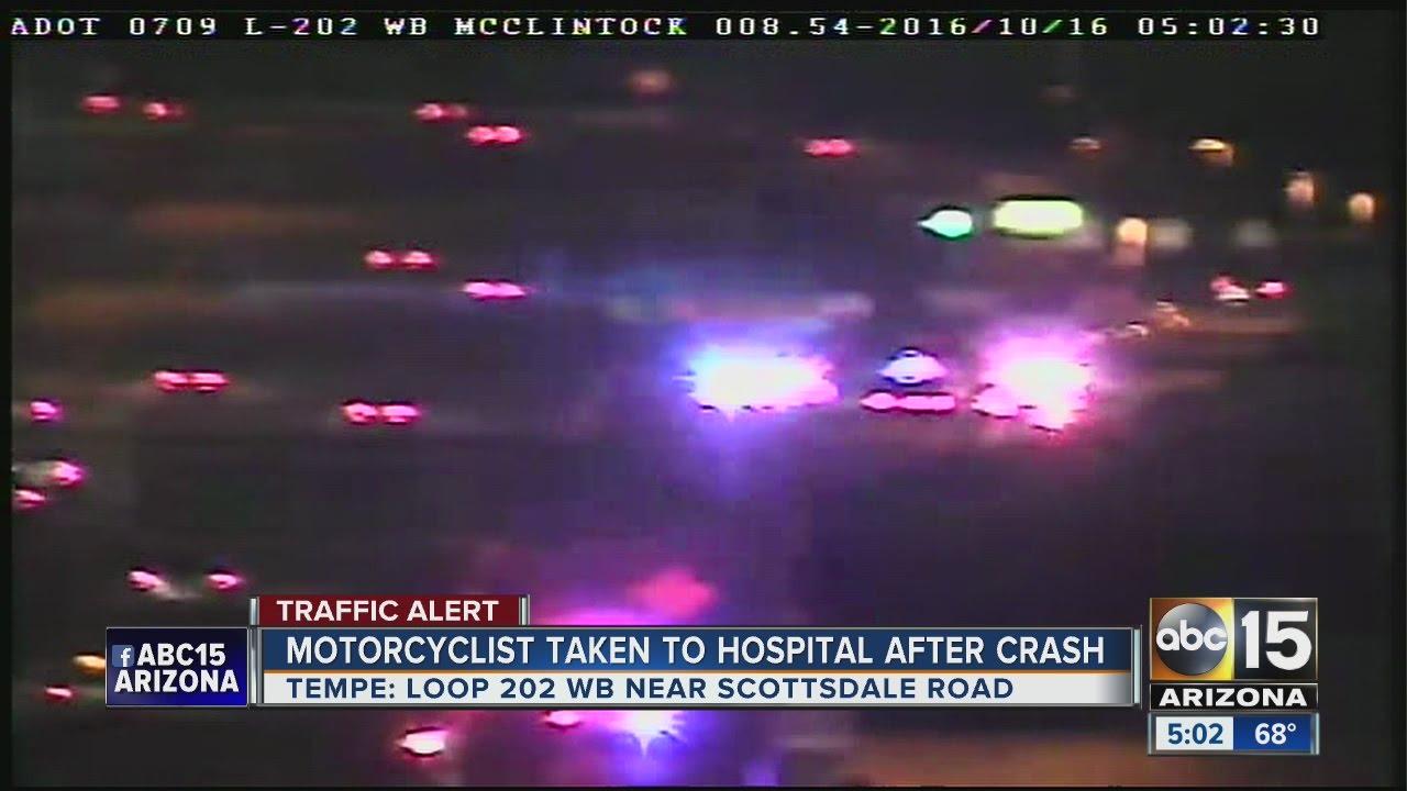 Motorcycle Crash Closes Loop 202 WB At Scottsdale Rd Sunday Morning