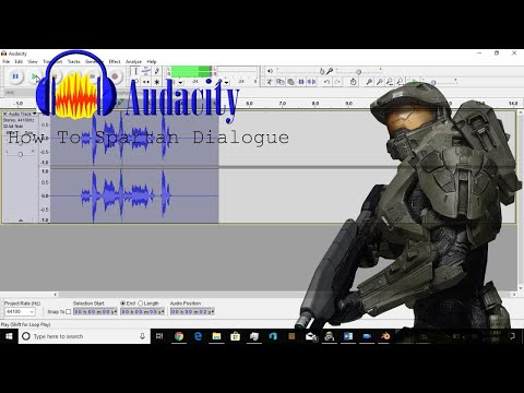 How to Spartan Dialogue/Radio Transmission using Audacity