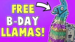 How To Get 3 FREE Birthday Llamas! (+Nocturno Giveaway Winners) | Fortnite Save The World News