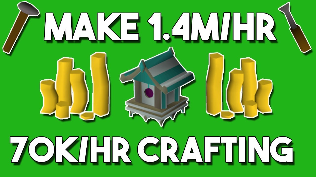 How to Make 1 4M/hr While Training Crafting - Oldschool Runescape Money  Making Method [OSRS]