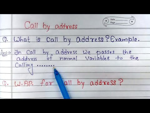 Call by address in C language || C program to swap two numbers using call by address