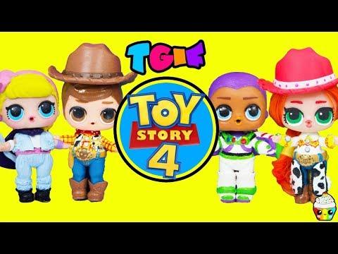 TGIF Show DIY TOY STORY 4 LOL Dolls Woody, Buzz Lightyear, Bo Peep, Jessie