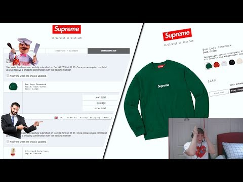 Supreme FW18 Week 16 Live Cop - Box Logo Week (Manual Checkout)